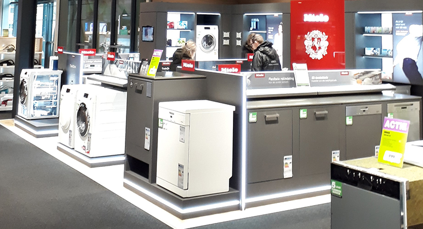 Nieuwe look and feel in Miele pilot store